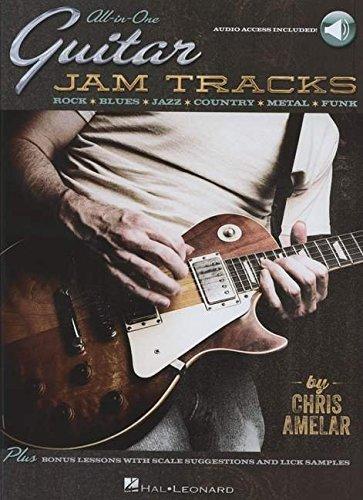 9781480360396: All-in-One Guitar Jam Tracks: Rock * Blues * Jazz * Country * Metal * Funk (Audio Online)