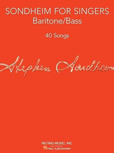 9781480367173: Sondheim for Singers: Baritone/Bass (40 Songs)