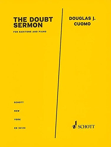 9781480372085: The Doubt Sermon from Doubt: Baritone and Piano