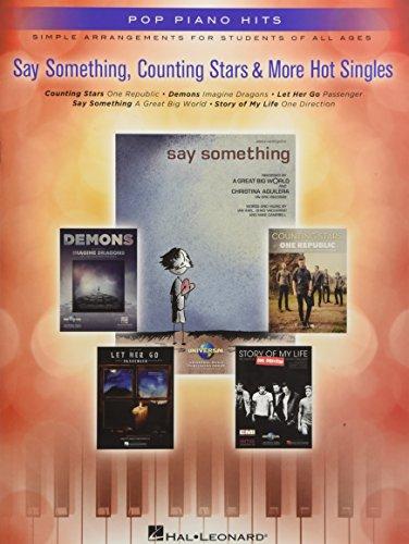 9781480382329: Say Something, Counting Stars & More Hot Singles (Pop Piano Hits)
