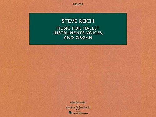 Music For Mallet Instruments Voices And Organ - Hps 1295 Hawkes Pocket Score Study Sc: Boosey & ...