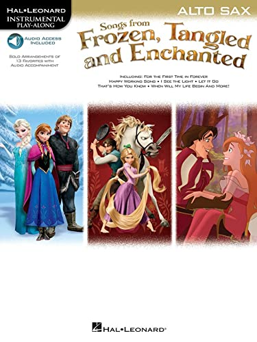 9781480387232: Songs from Frozen, Tangled and Enchanted: Alto Sax