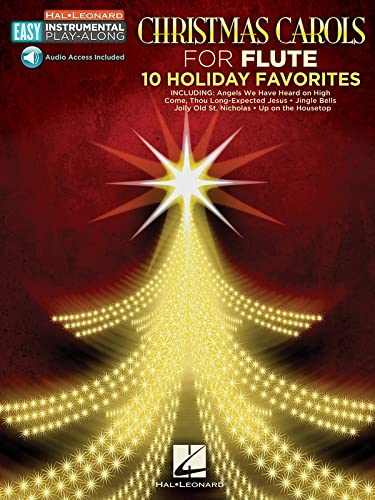 Christmas Carols: Flute Easy Instrumental Play-Along Book: Hal Leonard Corp.