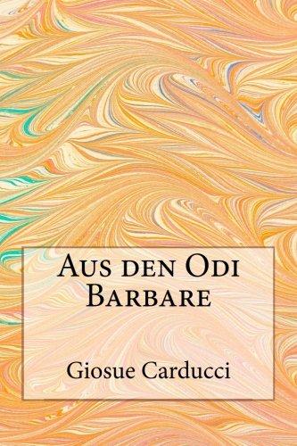 9781481050920: Aus den Odi Barbare (German Edition)