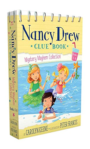 9781481469234: Nancy Drew Clue Book Mystery Mayhem Collection Books 1-4: Pool Party Puzzler; Last Lemonade Standing; A Star Witness; Big Top Flop