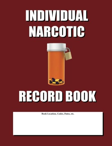 9781481883566: Individual Narcotic Record Book: Burgundy Cover