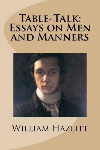 9781481926317: Table-Talk: Essays on Men and Manners