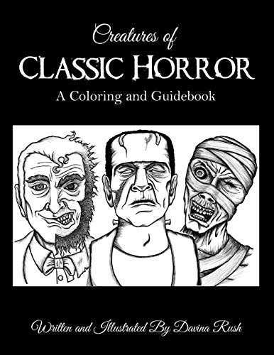9781482017120: Creatures of Classic Horror: Guide and Coloring Book