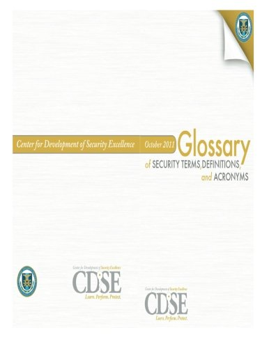 9781482085587: Glossary of Security Terms, Definitions and Acronyms