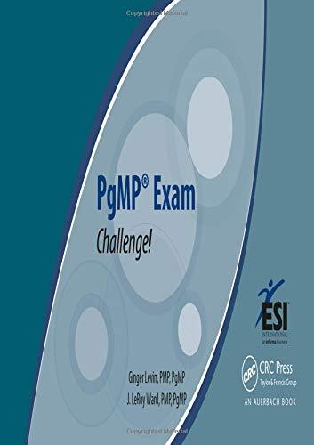 9781482202083: PgMP® Exam Challenge!