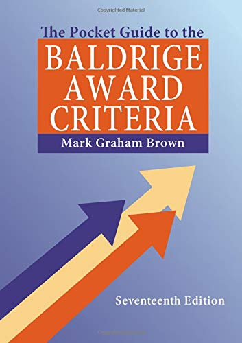 9781482205275: The Pocket Guide to the Baldrige Award Criteria (5-Pack), 17th Edition