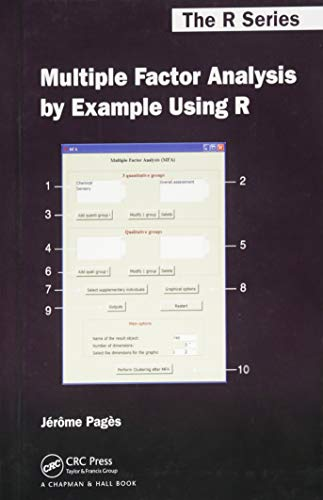 9781482205473: Multiple Factor Analysis by Example Using R (Chapman & Hall/CRC The R Series)