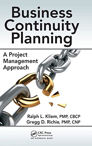 9781482251784: Business Continuity Planning: A Project Management Approach