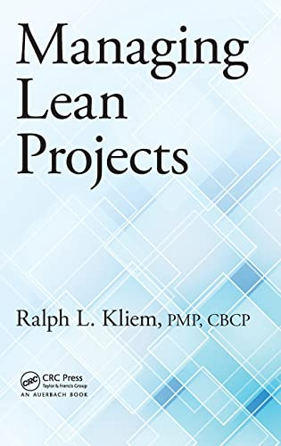 9781482251821: Managing Lean Projects