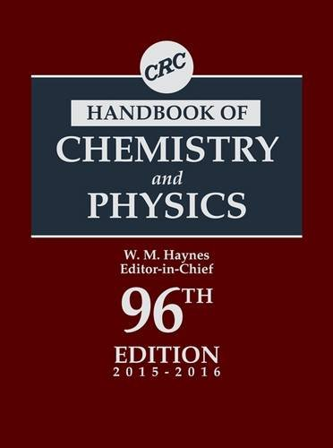 9781482260960: CRC Handbook of Chemistry and Physics, 96th Edition (CRC Handbook of Chemistry & Physics)