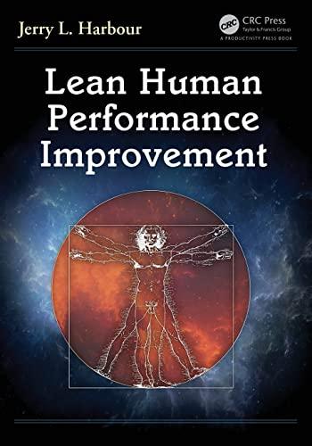 Lean Human Performance Improvement: Harbour, Jerry L.