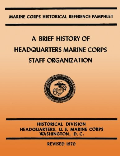 A Brief History of Headquarters Marine Corps: Kenneth W Condit,