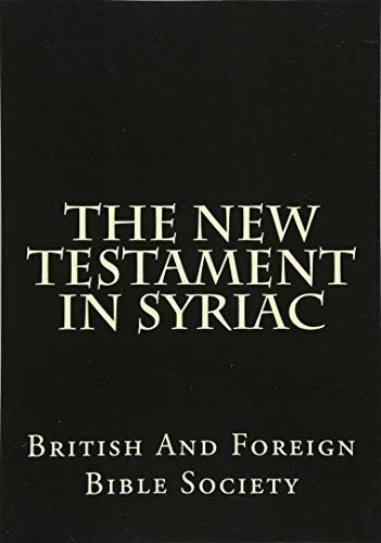 9781482356489: The New Testament In Syriac