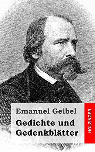 9781482399363: Gedichte und Gedenkblätter