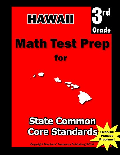 9781482517866: Hawaii 3rd Grade Math Test Prep: Common Core Learning Standards