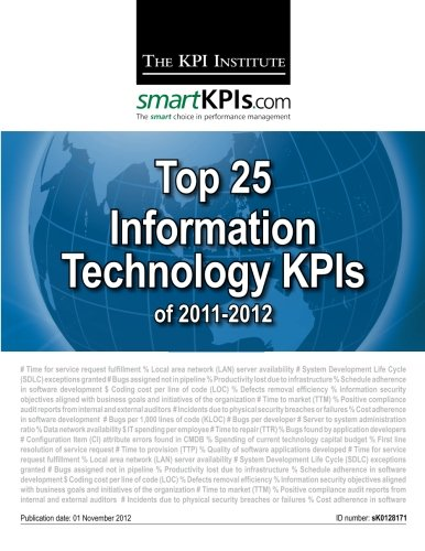 9781482548846: Top 25 Information Technology KPIs of 2011-2012