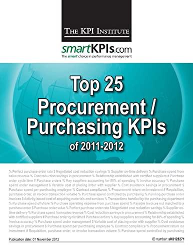 9781482548983: Top 25 Procurement/Purchasing KPIs of 2011-2012