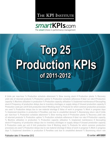 9781482549003: Top 25 Production KPIs of 2011-2012