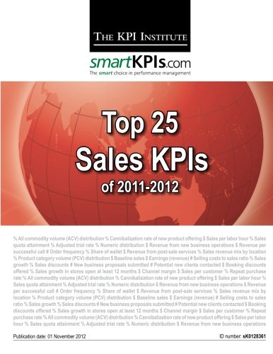 9781482549119: Top 25 Sales KPIs of 2011-2012