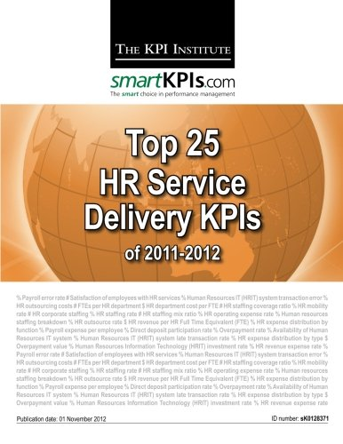 9781482549201: Top 25 HR Service Delivery KPIs of 2011-2012