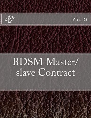 9781482552676: BDSM Master/slave Contract