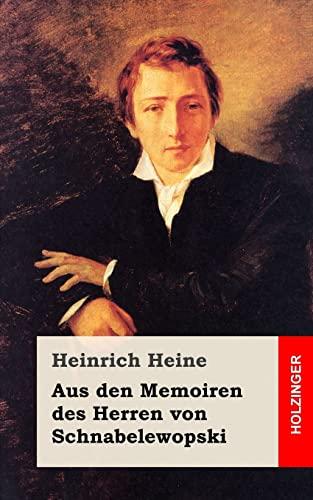 9781482558104: Aus den Memoiren des Herren von Schnabelewopski (German Edition)