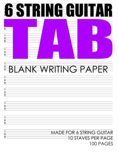 9781482561388: 6 STRING Guitar Tab: Made For 6 String Guitar