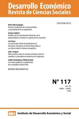 9781482604368: Desarrollo Económico. Número 117: Revista de Ciencias Sociales. Volumen 30