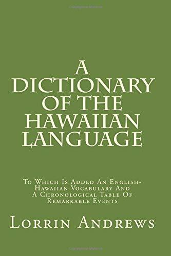 9781482636246: A Dictionary Of The Hawaiian Language: To