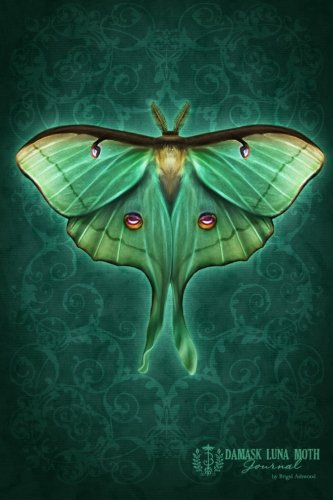 9781482717242: Damask Luna Moth Journal