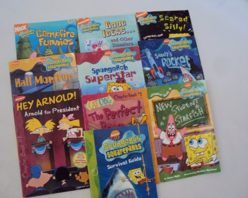 9781482750577: Nickelodeon Chapter Book Set for Kids : Spongebob Squarepants Survival Guide; Sandy's Rocket; Hall Monitor - Catdog, the Perfect Bone - Spongebob Superstar - Good Ideas and Other Disasters - Hey Arnold - Scared Silly - Campfire Funnies Joke Book (An Unofficial Box Set - 2nd Grade)