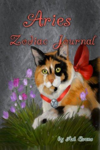 9781482778922: Aries zodiac cat blank journal