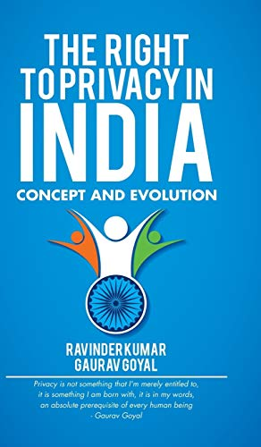 9781482868678: The Right to Privacy in India: Concept and Evolution