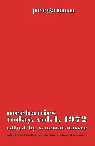 9781483113951: Mechanics Today: Pergamon Mechanics Today Series (Volume 1)