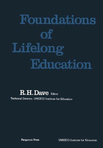 9781483120836: Foundations of Lifelong Education: Studies in Lifelong Education