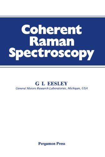 9781483121499: Coherent Raman Spectroscopy