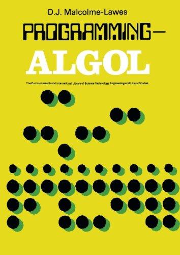 9781483122465: Programming-ALGOL