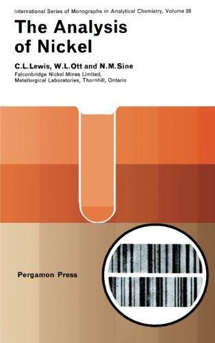9781483122717: The Analysis of Nickel: International Series of Monographs in Analytical Chemistry (Volume 28)