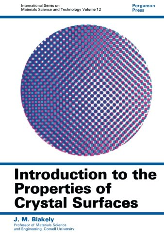 9781483124384: Introduction to the Properties of Crystal Surfaces: International Series on Materials Science and Technology (Volume 12)