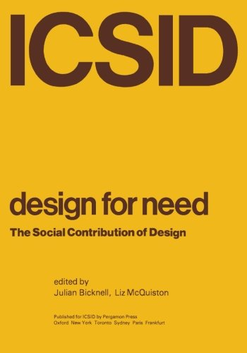 9781483124988: Design for Need: The Social Contribution of Design