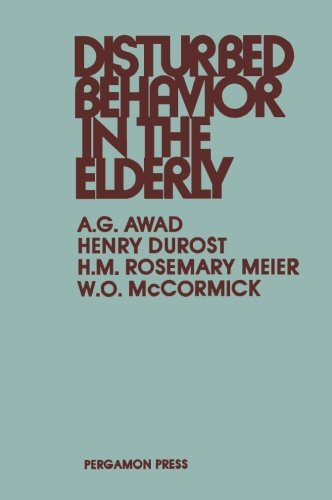 9781483125886: Disturbed Behavior in the Elderly