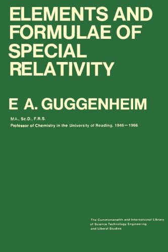 9781483127590: Elements and Formulae of Special Relativity: The Commonwealth and International Library: Physics Division