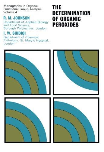 9781483127774: The Determination of Organic Peroxides: Monographs in Organic Functional Group Analysis (Volume 4)
