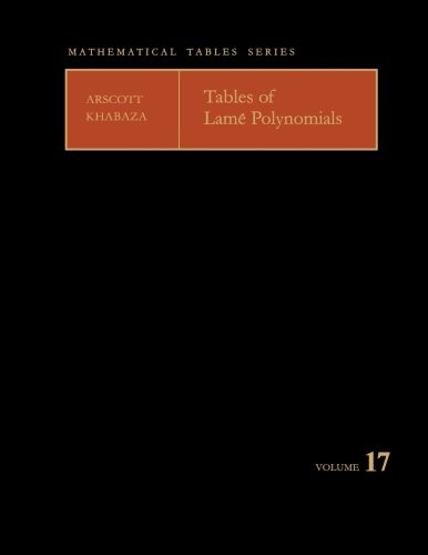 9781483168906: Tables of Lamé Polynomials: Mathematical Tables