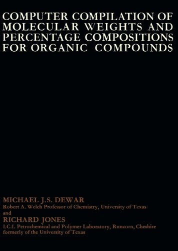 9781483170428: Computer Compilation of Molecular Weights and Percentage Compositions for Organic Compounds